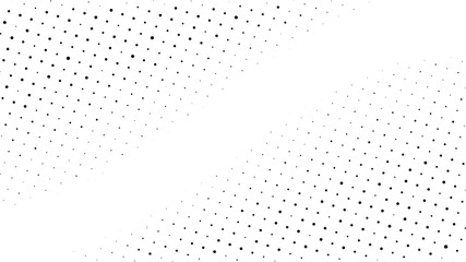 Halftone gradient pattern. Abstract halftone dots background. Monochrome dots pattern. Pop Art, Comic small dots. Gradient frame. Banner with space. Design for presentation, report, flyer, card