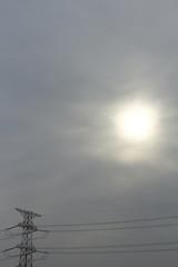 鉄塔と太陽