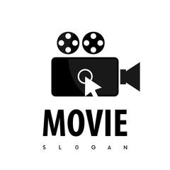Click Movie Logo Vector