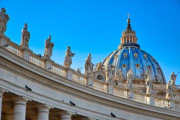 Fototapeta Scenic St. Peter's Basilica in Rome near Vatican City obraz