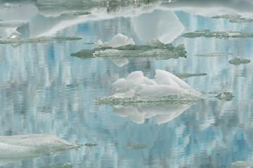 Glacier ice reflections in Tracy Arm;  Alaska
