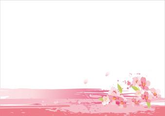 桜の美しい背景素材