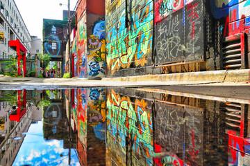 Foto auf AluDibond Graffiti Graffistreet
