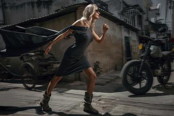 Woman urban portrait
