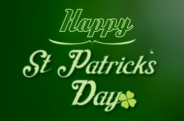 Happy Saint Patricks Day - Green Background