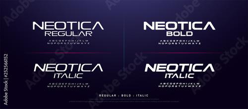 technology modern alphabet fonts  typography regular, bold and