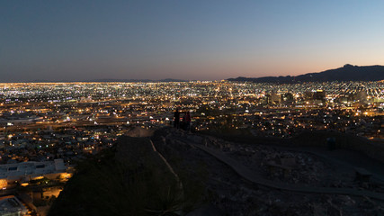 Observation of the City of El Paso and Neighborhood and Mountains