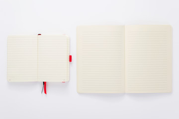 paper notebook or pad at white background