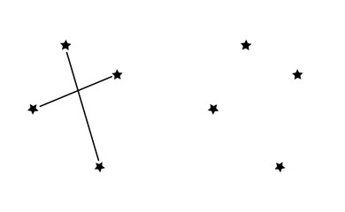 Southern cross, constellation of the southern hemisphere of the sky. Vector illustration. Wall mural