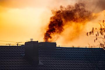 Obraz dym z komina - fototapety do salonu