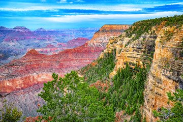 Amazing natural geological formation - Grand Canyon in Arizona, Southern Rim. Wall mural