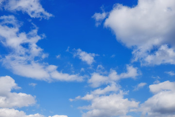 Blue sky with clouds abstract nature background