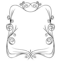 Hand drawn doodle vintage swirl borders frames set