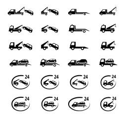 Obraz auto pomoc zestaw ikon - fototapety do salonu