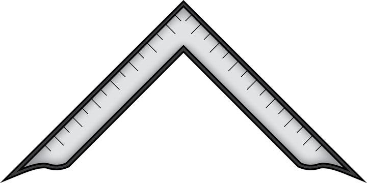Masonic symbol of Worshipful Master for Blue Lodge Freemasonry