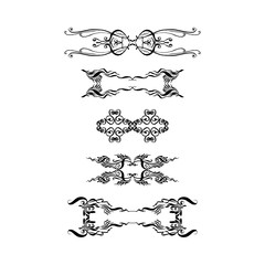 set of ornamental elements. hand-drawn vector illustration on white background