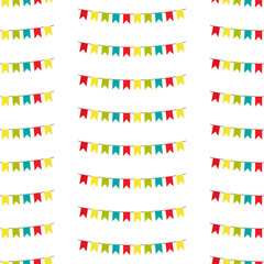Bunting seampless pattern, bunting background, vector eps10 illustration