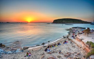 Ibiza - Sunset on the Cala Comte Wall mural