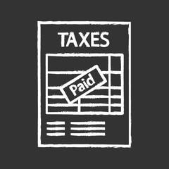 Tax return chalk icon