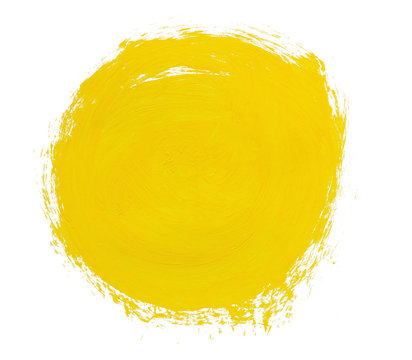 circle spot of yellow paint