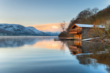 Wall Mural - Pooley Bridge Boat House on Ullswater