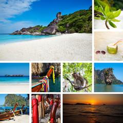Set of Thailand travel photos