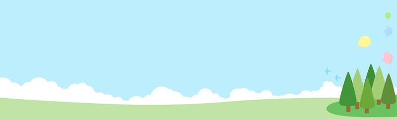 青空と丘 背景