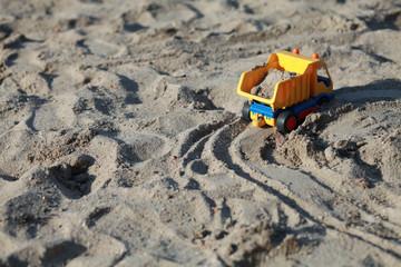 toy truck on the sandbox