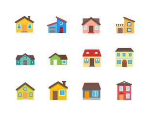 Fototapeta House vector flat illustration / Home flat icon set. obraz