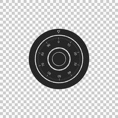 Safe combination lock wheel icon isolated on transparent background. Protection concept. Password sign. Flat design. Vector Illustration