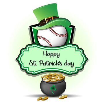 Happy St. Patrick day and Baseball ball