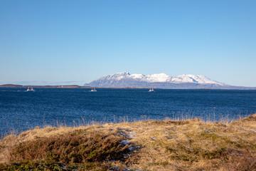 Outdoors in Norwegian winter nature