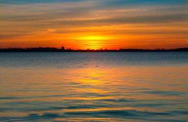 Sonnenuntergang über Greifswald