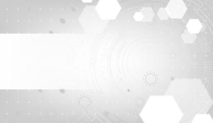 Abstract white circuit board, vector Futuristic background concept