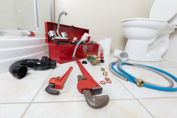 Plumbing constraction tools.