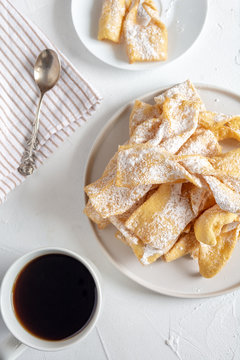 Faworki, Chrusty, Angel Wings - traditional Polish pastries served during Carnival Fat Thursday, just befor Lent.