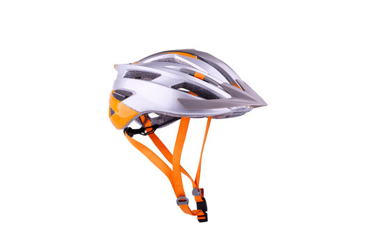 helmet bicycle for safety when cycling bike isolated on white background
