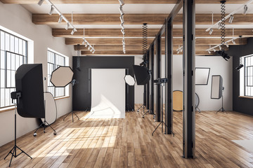 Contemporary loft photo studio