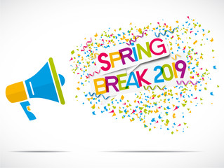 mégaphone confettis : spring break 2019