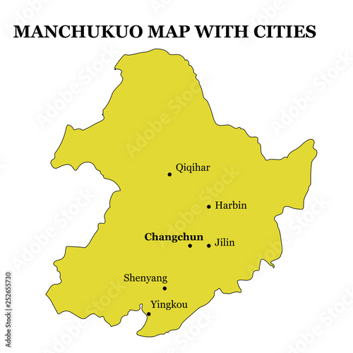 historical map of Manchukuo on the territory of modern China