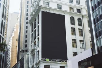 Empty black poster