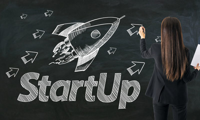 Startup and ambition concept