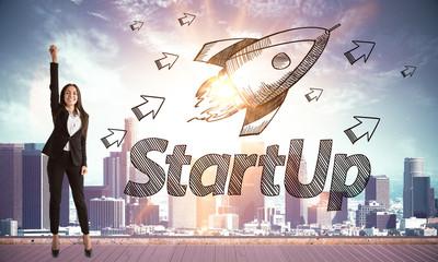 Startup and entrepreneur concept