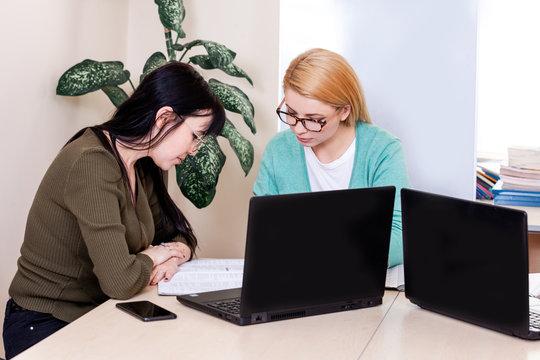 lesson teacher school computer business team work space class mate group woman men coach bank