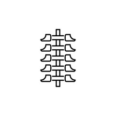 human organ spine outline icon. Signs and symbols can be used for web, logo, mobile app, UI, UX