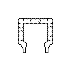 human organ intestine outline icon. Signs and symbols can be used for web, logo, mobile app, UI, UX