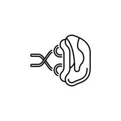 human organ spleen outline icon. Signs and symbols can be used for web, logo, mobile app, UI, UX