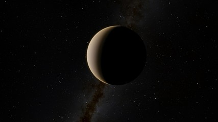 Exoplanet 3D illustration rendering of the Planet Venus on a starry background (Elements of this image furnished by NASA)