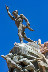 View on the Heroes of Independence statue in Humahuaca