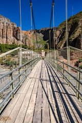 View on a bridge in Iruya, Argentina
